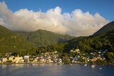 Sunset over the Hills Surrounding Soufriere, St. Lucia, West Indies Photographic Print by Brian Jannsen