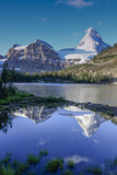 Mount Assiniboine and Mount Magog as Seen from Sunburst Lake Photographic Print by Howie Garber