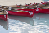 Canada, Banff National Park, Lake Louise, Canoes Photographic Print by Jamie & Judy Wild