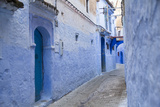 Chefchaouen, Morocco. Narrow Arched Alleyways for Foot Traffic Only Photographic Print by Emily Wilson