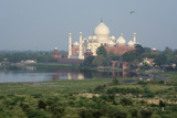 India, Agra. Taj Mahal from the Red Fort of Agra. Sandstone Fortress Photographic Print by Cindy Miller Hopkins