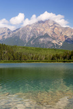 Canada, Alberta, Jasper NP, Pyramid Mountain and Patricia Lake Photographic Print by Jamie & Judy Wild