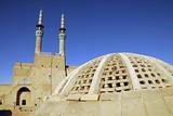 Iran, Yazd, Zoroastrian Complex of Amir Chakma with Bazaar Roofs Photographic Print by Stephanie Rabemiafara