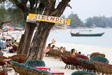 Serendipity Beach Is the Main Beach in Sihanoukville, Cambodia Photographic Print by Micah Wright