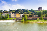 River Arno, Tower of San Niccolo, Firenze, Tuscany, Italy Photographic Print by Nico Tondini