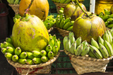 Myanmar. Yangon. Botataung Pagoda. Offerings of Fruit for Sale Photographic Print by Inger Hogstrom