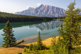 Canada, Alberta, Banff National Park, Two Jack Lake and Mount Rundle Photographic Print by Jamie & Judy Wild