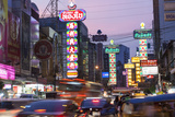 Chinatown at Dusk, Bangkok, Thailand Photographic Print by Peter Adams