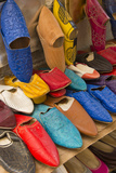 Morocco Fez Colorful Arab Shoes for Sale in Store on Rack Photographic Print by Bill Bachmann