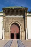 Meknes, Morocco, Exterior of Mausoleum of Mouley Idriss Fotodruck von Bill Bachmann