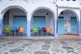 Morocco, Local Village Eatery in Chefchaouen in Village Medina Fotodruck von Emily Wilson