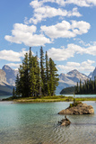 Canada, Alberta, Jasper National Park, Maligne Lake and Spirit Island Photographic Print by Jamie & Judy Wild