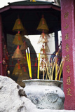Asia, China, Macau, A-Ma Temple in Macau with Incense Burning Photographic Print by Terry Eggers