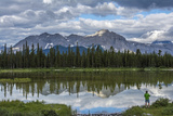 Hiker Admires a Lake Outside of Provincial Park, Canada Photographic Print by Howie Garber