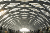 China, Tianjin, Reflections Inside the Tianjin West Railway Station Photographic Print by Paul Souders