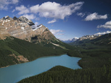 Canada, Alberta, Banff National Park, Mountains and Peyto Lake Photographic Print by Christopher Talbot Frank