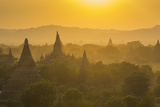 Myanmar. Bagan. Temples at Sunset Photographic Print by Inger Hogstrom