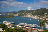 Charlotte Amalie Harbor, Paradise Point, St Thomas, Us Virgin Islands Photographic Print by Brian Jannsen