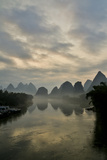 Mountain Scenic at Sunset Along the Li River Near Yangshuo, China Photographic Print by Darrell Gulin