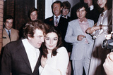 Albert Finney and Anouk Aimee after their registry office wedding in London in 1970 Photographic Print by Eddie Worth