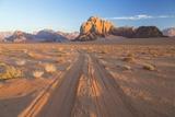 Tracks in the Desert, Wadi Rum, Jordan Photographic Print by Peter Adams