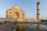 Reflection in Water. Taj Mahal at Sunset. Agra. India Photographic Print by Tom Norring