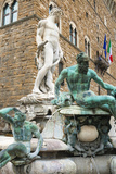 Fountain of Neptune (Biancone), Firenze, UNESCO, Tuscany, Italy Photographic Print by Nico Tondini