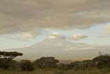 Kenya, Amboseli National Park, Kilimanjaro Mountain at Sunrise Photographic Print by Anthony Asael