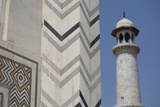 India, Agra, Taj Mahal. Memorial to Queen Mumtaz Mahal. Geometric Wall Photographic Print by Cindy Miller Hopkins