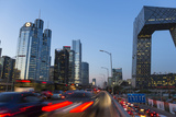 Central Business District and Cctv Building at Dusk, Beijing, China Fotodruck von Peter Adams
