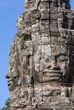Cambodia, Bayon Temple, Late 12th. Century. Smiling Buddha Face Photographic Print by Charles O. Cecil