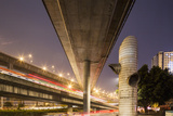 China, Chongqing, Overhead Expressways on Autumn Evening Photographic Print by Paul Souders