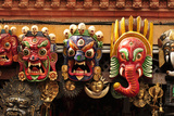 Folk Art of Nepal, Paper Mache Masks Photographic Print by Jaina Mishra