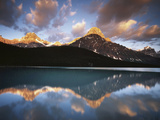 Canada, Alberta, Banff NP, Mt Chephren Reflects in a Lake at Sunrise Photographic Print by Christopher Talbot Frank
