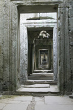Asia Cambodia, Angkor Wat Hall Photographic Print by John Ford