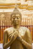 Thailand, Chiang Mai Province, Wat Phra That Doi Suthep. Buddha Statue Photographic Print by Emily Wilson