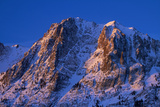 Alpenglow on Carson Peak Above Silver Lake, Eastern Sierra, California Photographic Print by David Wall