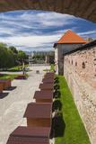 Romania, Transylvania, Fagaras, Fagaras Citadel, Exterior View Photographic Print by Walter Bibikow