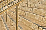 Concrete Stairs Along the Embarcadero, San Diego, California Photographic Print by Rona Schwarz