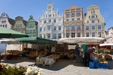 New Market Square, Rostock, Germany Photographic Print by Peter Adams