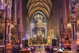 Choir Singing, St Stephens Cathedral, Vienna, Austria Photographic Print by Peter Adams