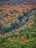 Michigan, Porcupine Mountains. the Big Carp River in Autumn Photographic Print by Julie Eggers
