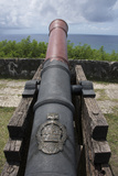 Us Territory of Guam, Umatac. Fort Soledad. Cannon and Philippine Sea Photographic Print by Cindy Miller Hopkins