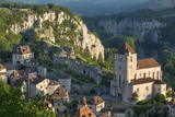 Morning over Saint-Cirq-Lapopie, Lot Valley, Midi-Pyrenees, France Photographic Print by Brian Jannsen