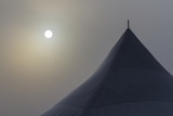 Canada, Ottawa. Top of Large Tent and Sun Muted by Fog Photographic Print by Bill Young