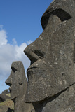 Chile, Easter Island. Rapa Nui, Historic Site of Rano Raraku. Moi Face Photographic Print by Cindy Miller Hopkins