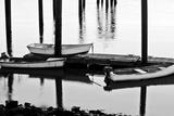 Skiffs in Rye Harbor, New Hampshire Stampa fotografica di Jerry & Marcy Monkman