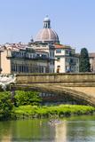 Ponte Santa Trinita, Arno River, Florence, Tuscany, Italy, Europe Photographic Print by Nico Tondini