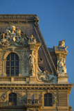 Sunset on Architectural Detail at Musee Du Louvre, Paris, France Photographic Print by Brian Jannsen