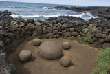 Chile, Easter Island. Te Pito Kura. Stone Called Navel of the Earth Photographic Print by Cindy Miller Hopkins